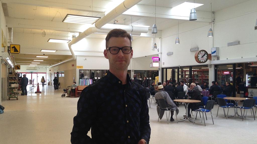Jonas Rosenberg på ABK vill att alla ska känna sig välkomna till gamlegårdens centrum.