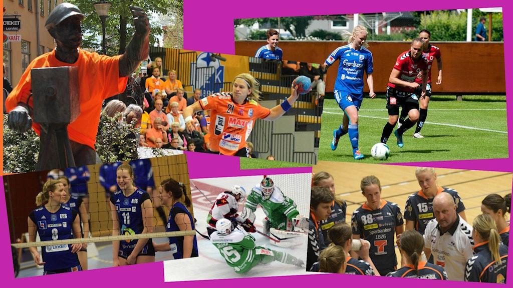 Collage lokal sport