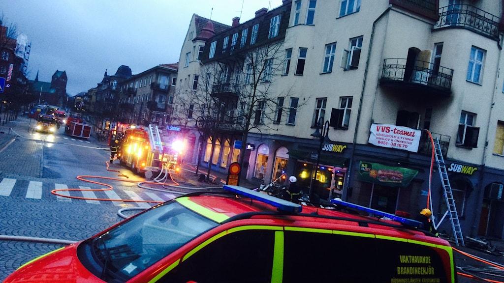 Hyreshuset i centrala Hässleholm utrymdes i natt.