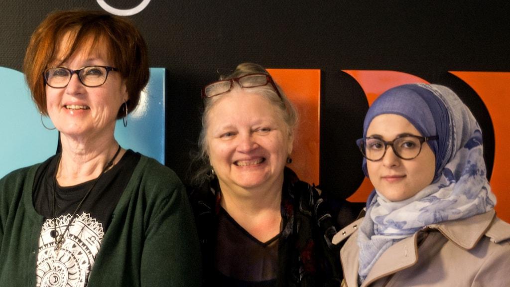 Ulla Inezdotter, Darleen Bever-Lewin och Shrouq Alarini ska starta en internationell kvinnogrupp.
