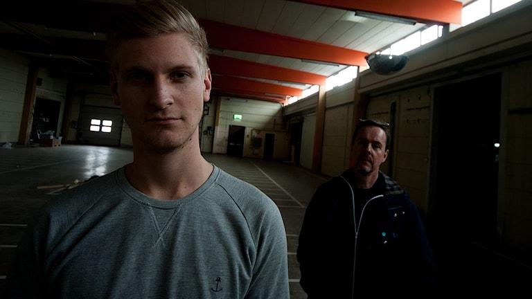 Oscar Nilsson och Lasse Magnusson. Två SM-aktuella herrar. Foto:Johan Pettersson/Sveriges Radio