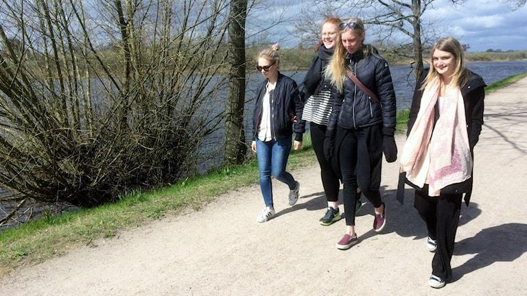 Ebba Nilsson, Isabella Larsen, Natalie Nilsson och Julia Nilsson.