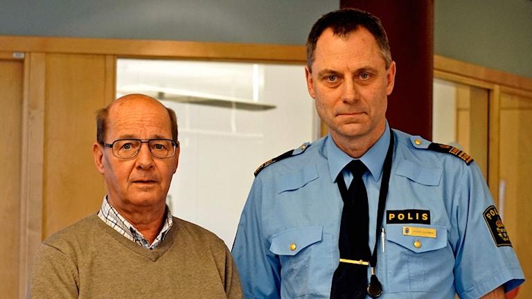 Peter Zerpe, säkerhetschef Kristianstad kommun och Anders Olofsson, polischef i Kristianstad