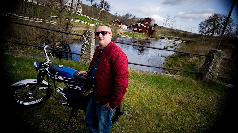 Bo Alm från Pinnagas moppers. Foto: Johan Pettersson/Sveriges Radio