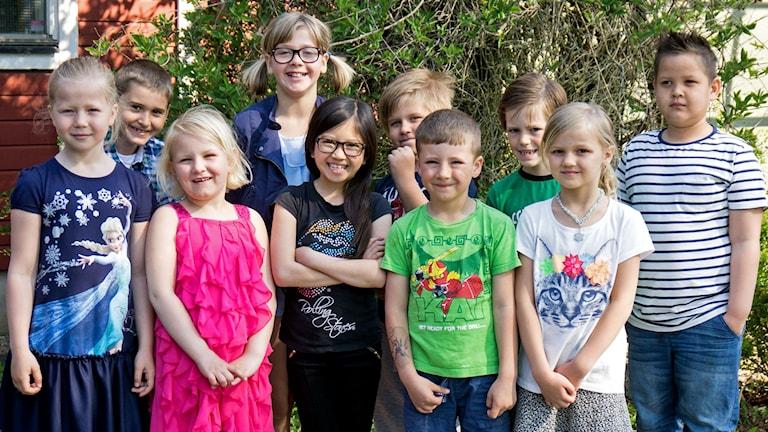 Barn från Växthuset och Virvelvindens fritids på Öllsjöskolan