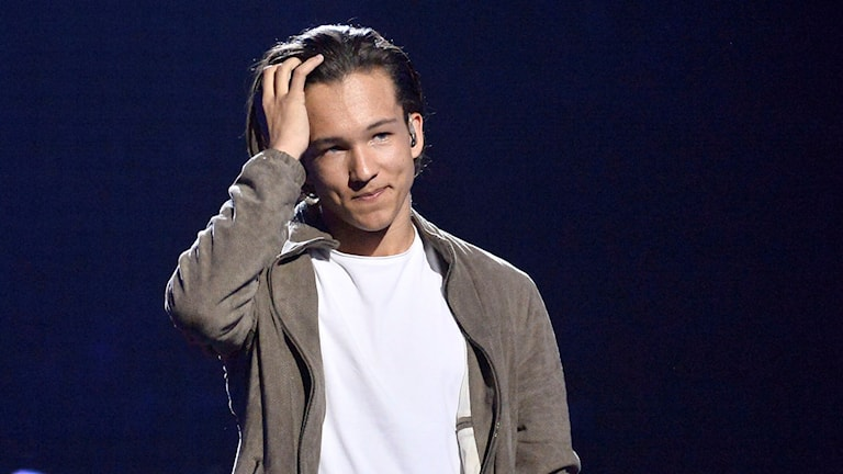 Frans Jeppsson Wall repeterar inför Eurovision Song Contest (ESC) i Globen