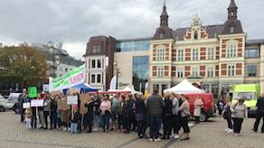 """Arkivbild från en demonstration mot """"Kristianstadsmodellen"""" i oktober 2016."""