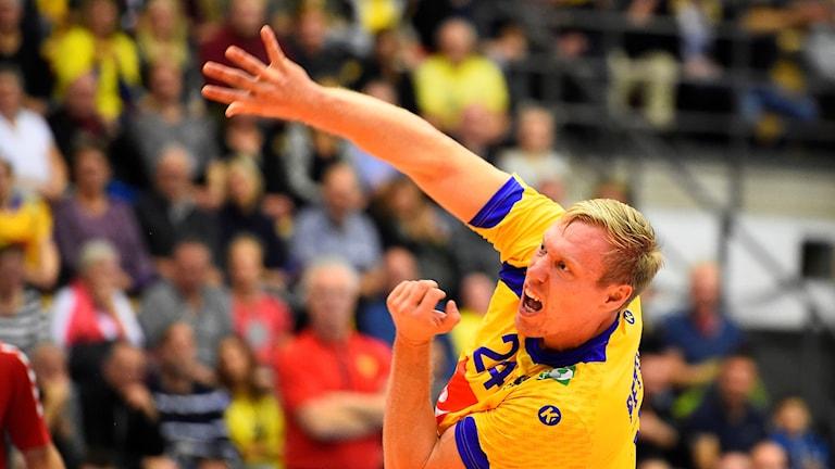 Fredric Pettersson bäste målskytt igår med sina 6 mål mot Island