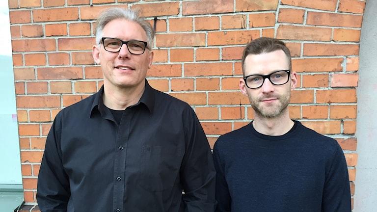 Roland Prommersberger, bosocial samordnare och Jonas Rosenberg, kommunikatör på ABK.