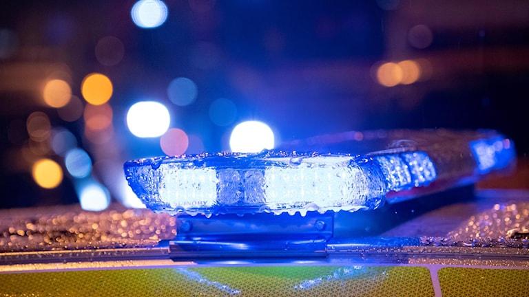 blåljus på polisbil