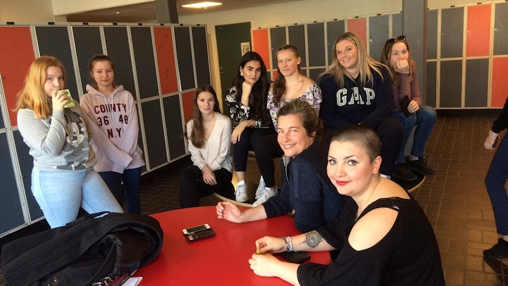 Elever på Frostaskolan Hörby.