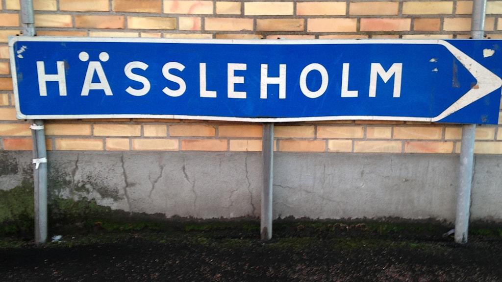 Hässleholm Skylt Vinslöv