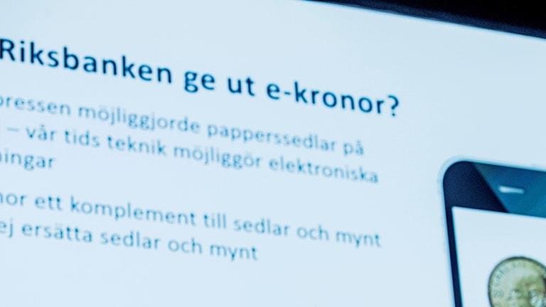 Riksbanken - e-krona