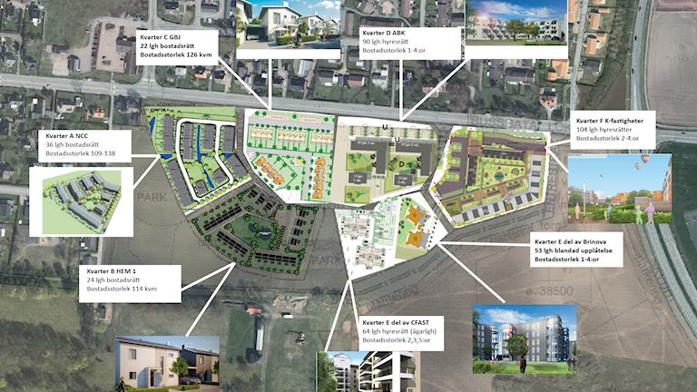 Så här kan bostäderna i Hammar byggas.