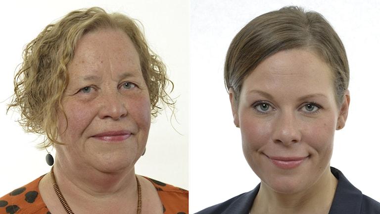 Elisabet Knutsson (MP) och Maria Malmer Stenergard (M).