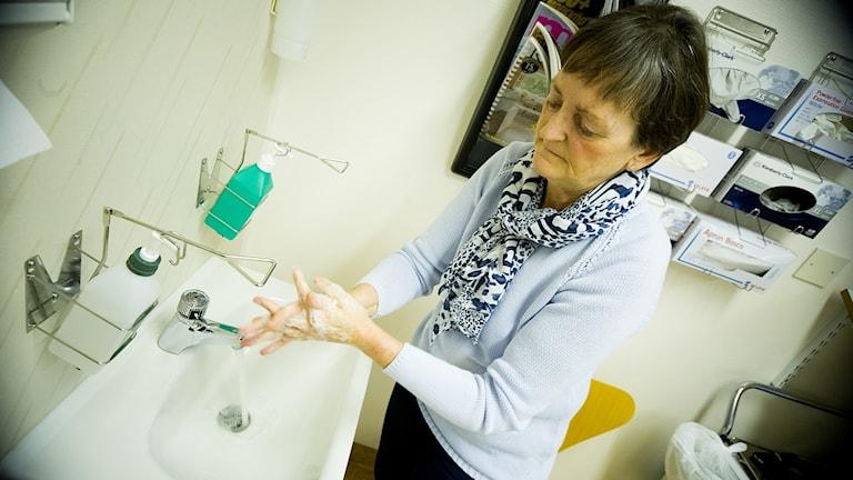Eva Andersson, hygiensjuksköterska på centralsjukhuset i Kristianstad.