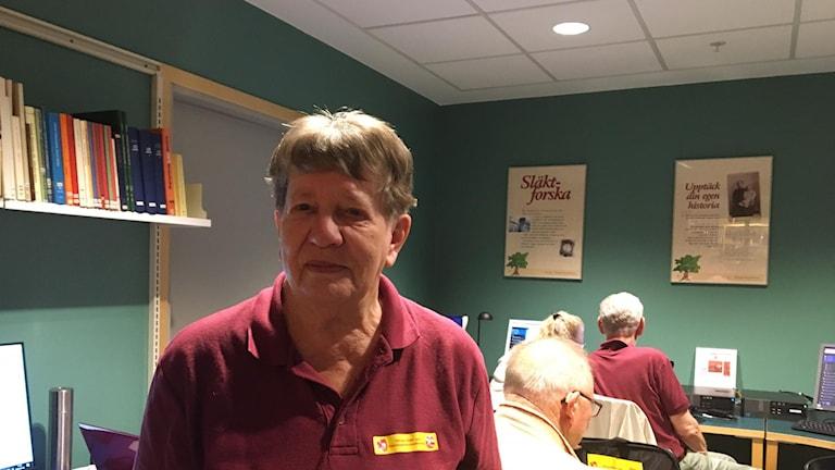 Karin Pallbo, ordförande i Göinge släkt och hembygdsforskarförening.