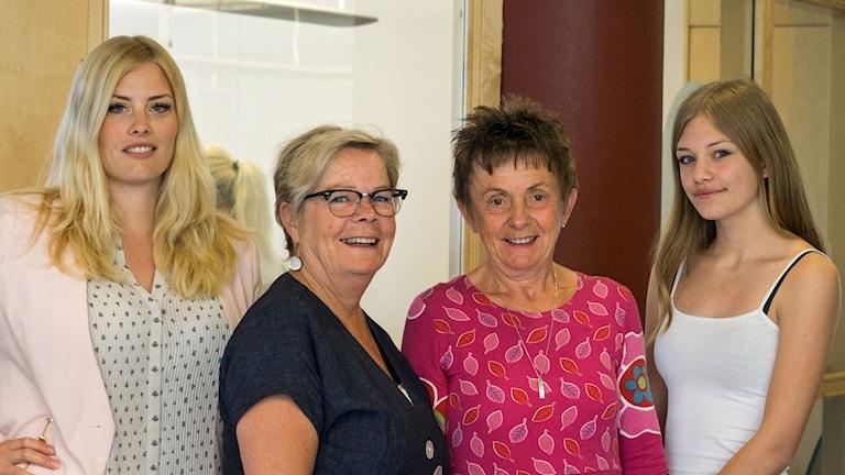 Terese, Birgitta, Elisabet och Agnes