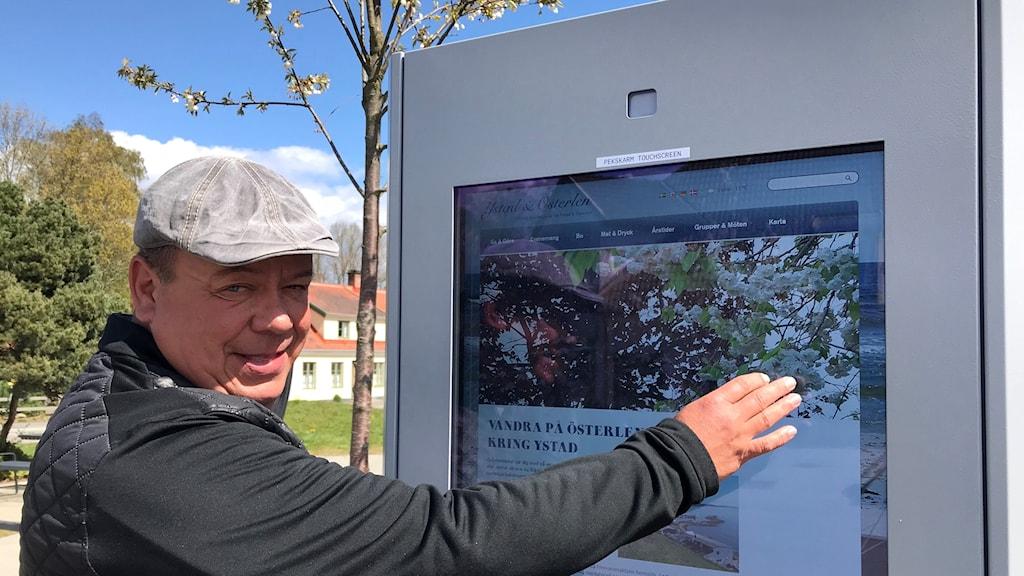 Sauli Lindfors, turismstrateg i Tomelilla kommun.