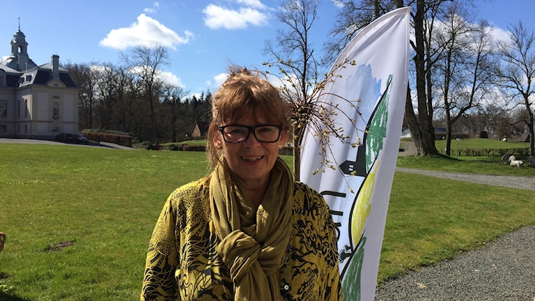 Helena Ingvarsson vid Kronovalls slott