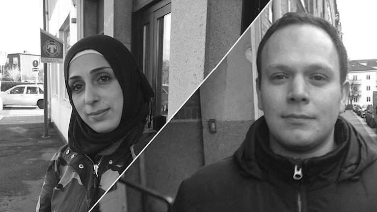 Hanadi Derbass och Anas Idlibi.