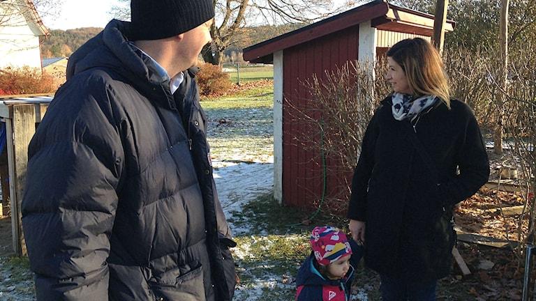 Daniel Svensson, Rana Bäckström och Isabelle.