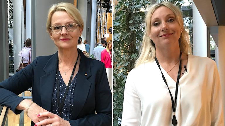 Två kvinnliga politiker