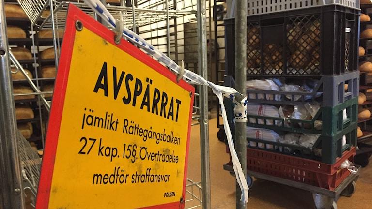 Sturebrödsbageriet rånat.  Kristianstad.