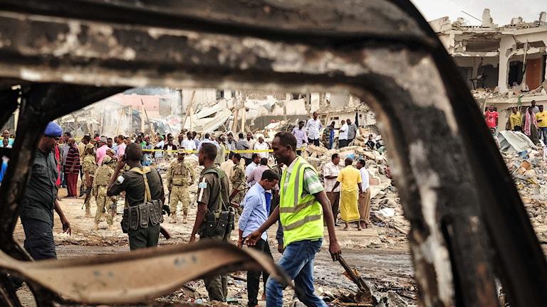 Explosion i Mogadishu.