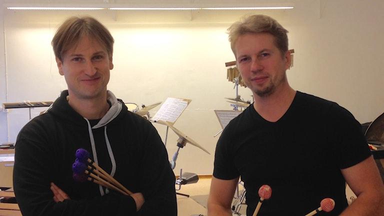 Johan Bridger och Patrick Raab utgör slagverkarduon Malleusincus.