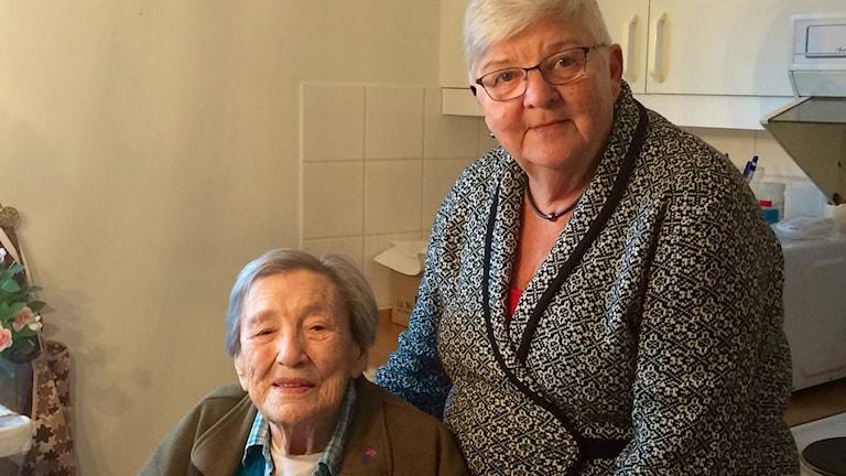 Måltidsvännerna Elsa Nielsen och Birgit Persson