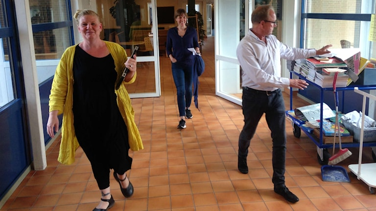 Ida Räihä, Frida Svensson och Jan Herngren arbetar på Fröknegårdskolan som avvecklat förberedelseklasser till den här terminen.