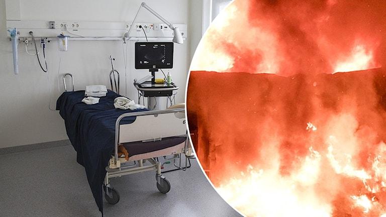 Mannen tände eld på stomipåsar på sitt boende.