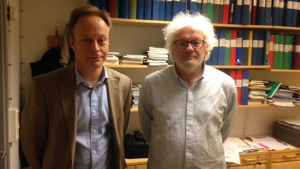 Henrik Jörntell är hjärnforskare vid medicinska fakulteten i Lund och Jacek Malec är professor i datavetenskap.