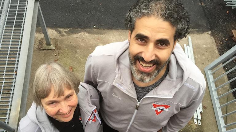 Karin Selander och Coach Moe