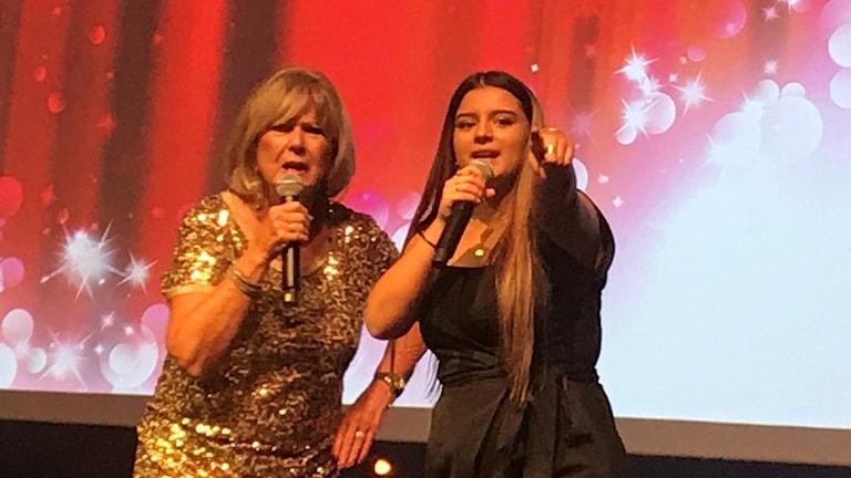 Ann-Louise Hanson och hennes stipendiat Alba Mars