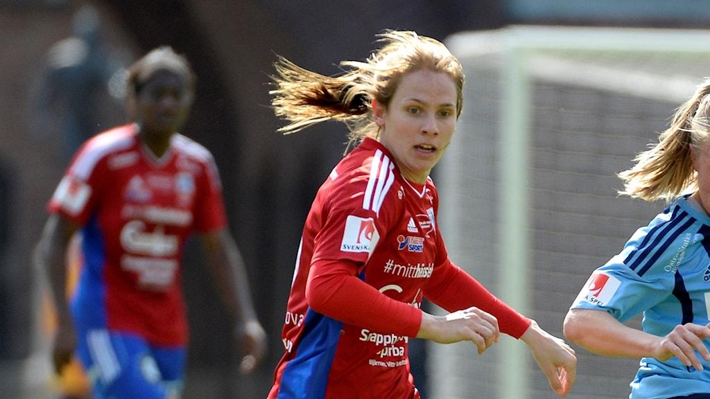 Kvinnlig fotbollsspelare