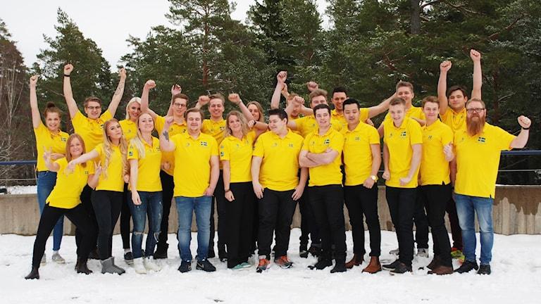 Det svenska yrkeslandslaget tävlar i Abu Dhabi.