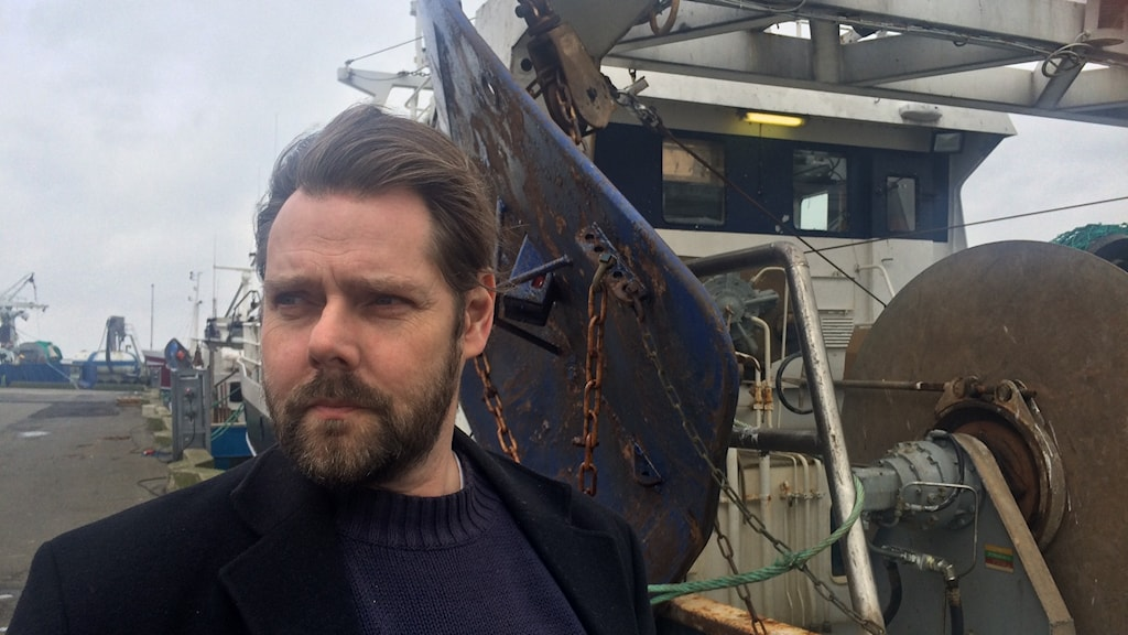 Morgan Broberg, skeppare på torsktrålaren Kungsö i Simrishamn. Foto: Malin Thelin/Sveriges Radio