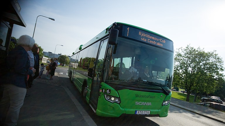 Stadsbusslinje 1 i Kristianstad. Foto: Johan Pettersson/Sveriges Radio