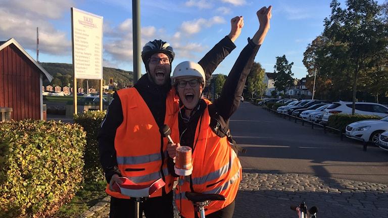 Karin och Rickard i mål
