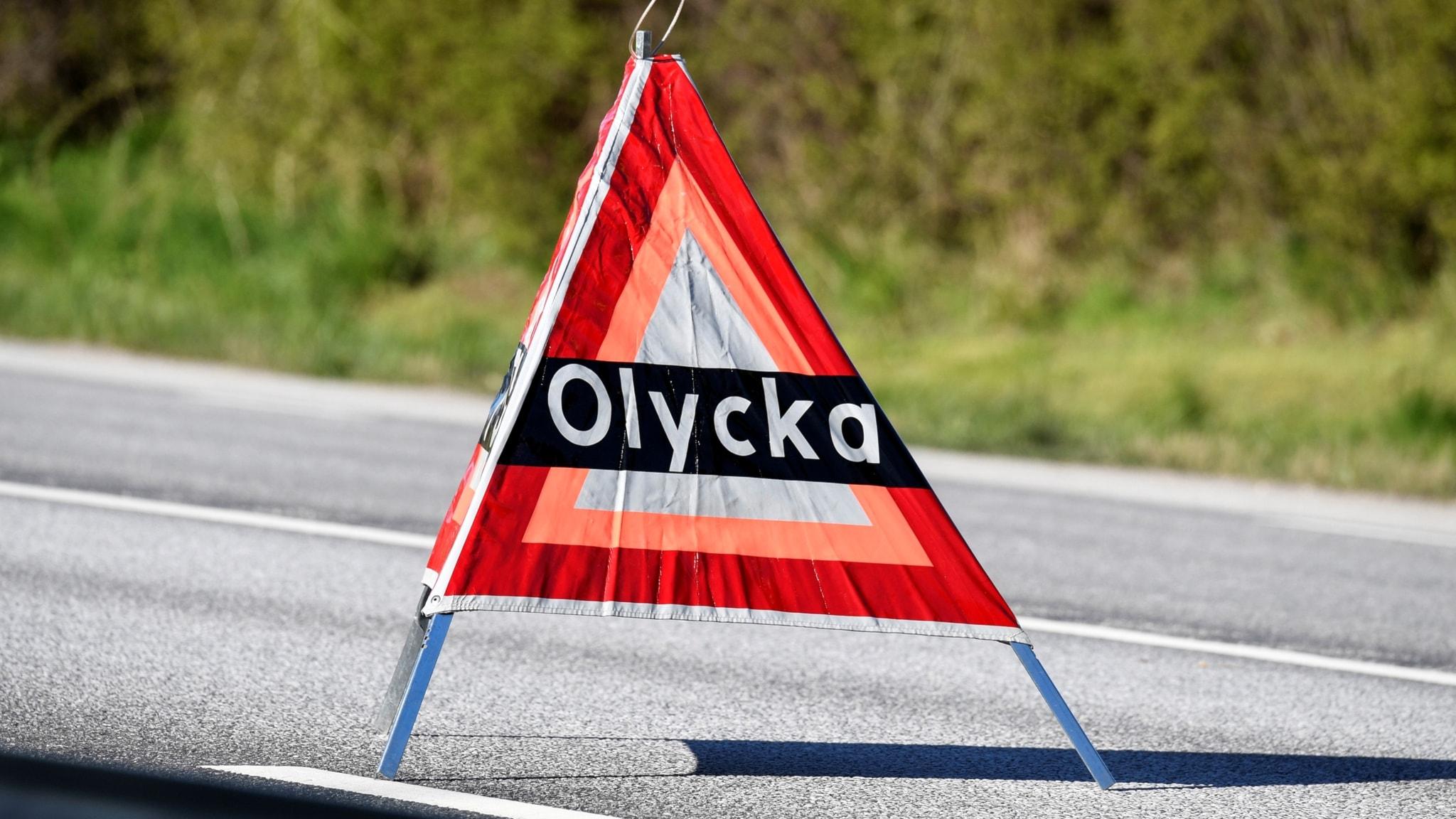 Motorcyklist omkom i trafikolycka