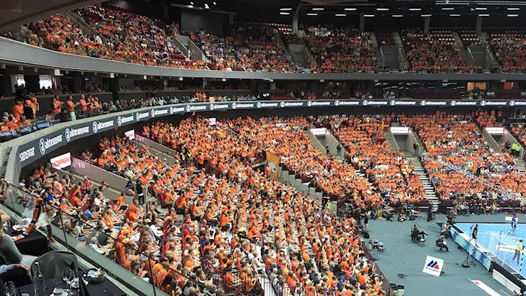 Orange publik på SM-finalen