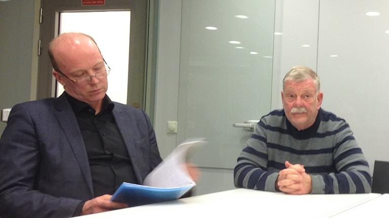 Kommunalrådet Mats Sturesson (c) och Hans-Göran Hansson (mp)
