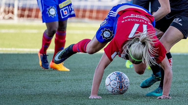 Vittsjös Hannah Wilkinson i match mot Göteborg. Foto: Adam Ihse/TT.