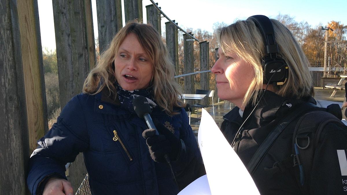 Carina Wettermark, biosfärkoordinator och Jenny Sandgren, programledare