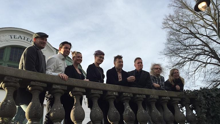 David Rix, Johan Wikström, Hanna LaFleur, Frida Modén Treichl, Patrik Martinsson, Ola Hörling, Jonas Svensson och Åsa Jensen.