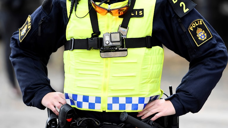 Kroppsburen kamera på polis