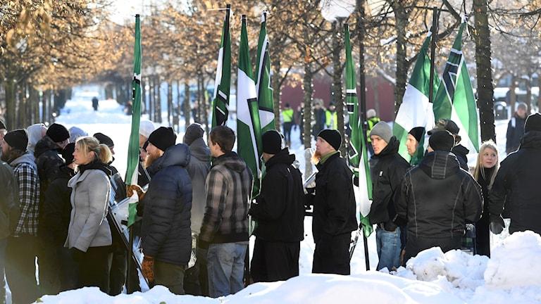 Nazistdemonstration i Stockholm