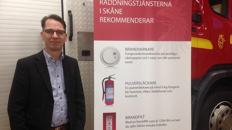 Daniel Sirensjö, räddningschef, Hässleholm